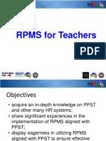 rpms for teachers session 1