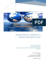 Detailed Design of a Wastewater Treatmen