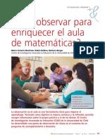 Qué observar para enriquecer el Aula de Matemáticas (Uno)