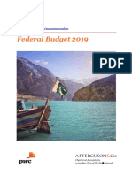 AFF's Tax Memorandum on Federal Budget 2019