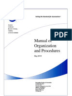 ISA Manual of Organization and Procedures 2019-05