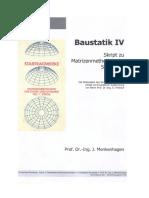 Skript-Baustatik-4 Matrizenmethoden der Stabstatik