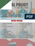 Fiscal Policy - Judea Anne c Gacusan