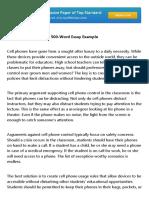 500 Word Essay Example
