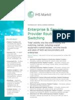 Service Datasheet Enterprise Service Provider Routing Switching Intelligence Service