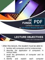 CoENG001L Lecture 1 & 2 - Computer Fundamentals