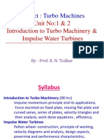 Unit No_1 & 2 Introduction to Turbo Machinery & Impulse Water Turbines_2015 Course