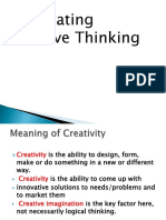Stimulating Creative Thinking