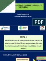 Rakontek P2P Dirjen P2P Dr Anung Sugihantono M Kes Meningkatkan Cakupan Kualitas Dan Jangkauan Layanan P2P 19 22 Maret 2018