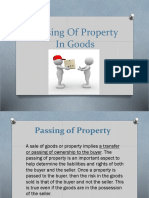 Passing of Property in Goods
