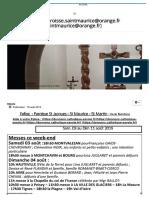 Annonces Bourg Saint-Maurice 3 au 11 août 2019