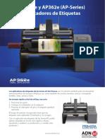 Catalogo Primera AP360 y AP362