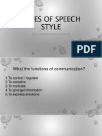 speech styles 2