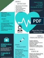 Turquoise Heart Vector Medical Brochure