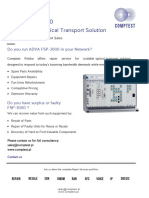ADVA FSP-3000 The Scalable Optical Transport Solution