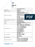 Product Specs - Datalogic Memor-10