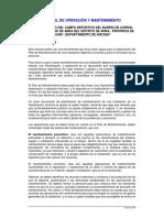 Manual de o&m Campo Deportivo