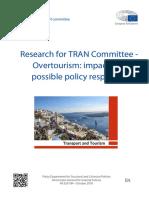 Έκθεση για το ζήτημα του υπερτουρισμού της Ευρώπης της Επιτροπής Μεταφορών και Τουρισμού του Ευρωπαϊκού Κοινοβουλίου (TRAN Committee)