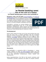 Car Rental Booking Goes Online with taxiGUIDE.in