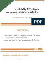 Sat 3G Mixed Ability IELTS Classes
