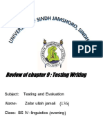 Assignment of Testing Writing