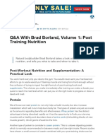 Q&A With Brad Borland, Volume 1_ Post Training Nutrition _ Muscle & Strength