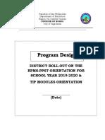Program Design Rpms Ppst