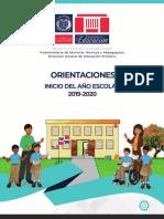 Orientaciones Inicvio año escolar 2019-2020