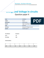 6.4 - Energy and Voltage in Circuits 2p - Edexcel Igcse Physics Qp