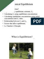Chemical Equilibrium Post Lab