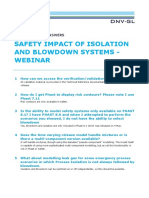 DNV Safety Impact of Isolation and Blowdown Systems - 19 April - QA