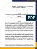 DESAFIOS DA FORMAÇÃO DE PROFESSORES NUM CONTEXTO DE MUDANÇA PARADIGMÁTICA NA EDUCAÇÃO