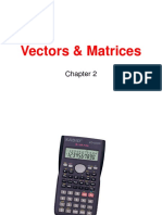 Vectors and Matrices