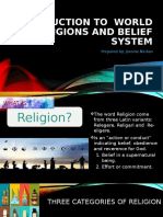 Introduction to World Religions and Belief System