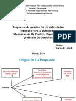 VEHICULO NO TRIPULADO PARA LA DETECCION Y RECOLECCION DE MATERIALES DE DESECHO