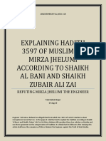 EXPLAINING HADITH 3597 OF MUSLIM TO MIRZA JHELUMI ACCORDING TO SHAIKH AL BANI AND SHAIKH ZUBAIR ALI ZAI