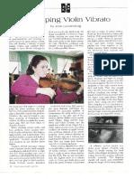 Developing Violinvibrato