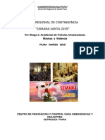 Plan de Contingencia Semana Santa Piura 2019
