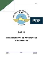 RAC 13 El Salvador