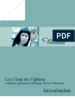 Let's Stop the Fighting