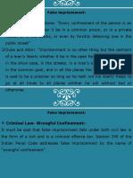 False Imprisonment PPT