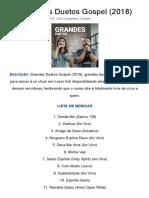 CD Grandes Duetos Gospel (2018) Torrent Grátis 632 MB
