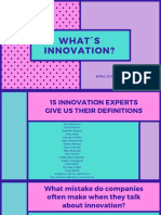 Aula 1 - WHAT´S INNOVATION_