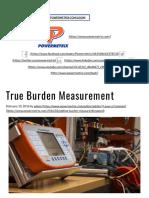 True Burden Measurement - Powermetrix