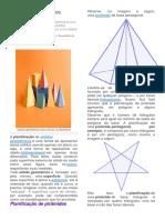 Planificação de Sólidos Geométricos