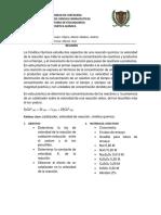 Informe de Cinetica Quimica