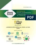 Informe a JEP, Empresas y Despojo de Tierras