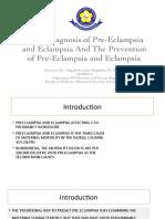Diagnosis Dini Preeklampsia Dan Eklampsia Dan Pencegahan Preeklampsia Dan Eklampsia