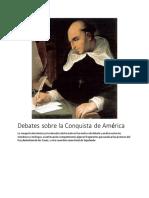 Debates Sobre La Conquista de América