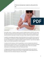 01-08-2019 Recomienda Salud Sonora lactancia materna durante los primeros seis meses - Proyecto puente